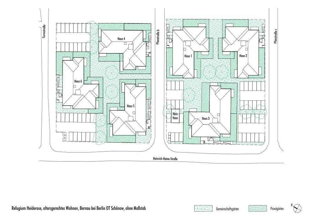 Grundrisslageplan Refugium Heiderose
