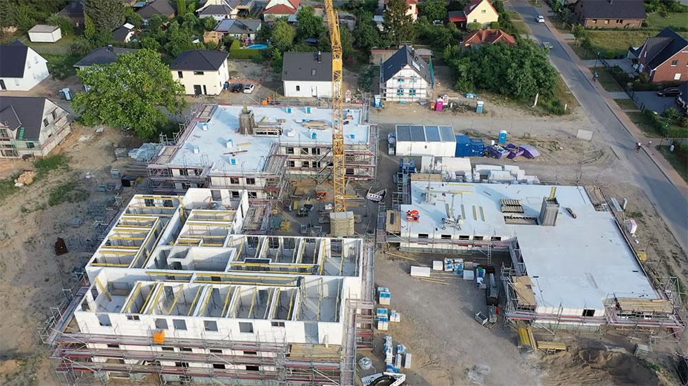 Baufortschritt Rohbau südliches Baufeld | 01.07.2019