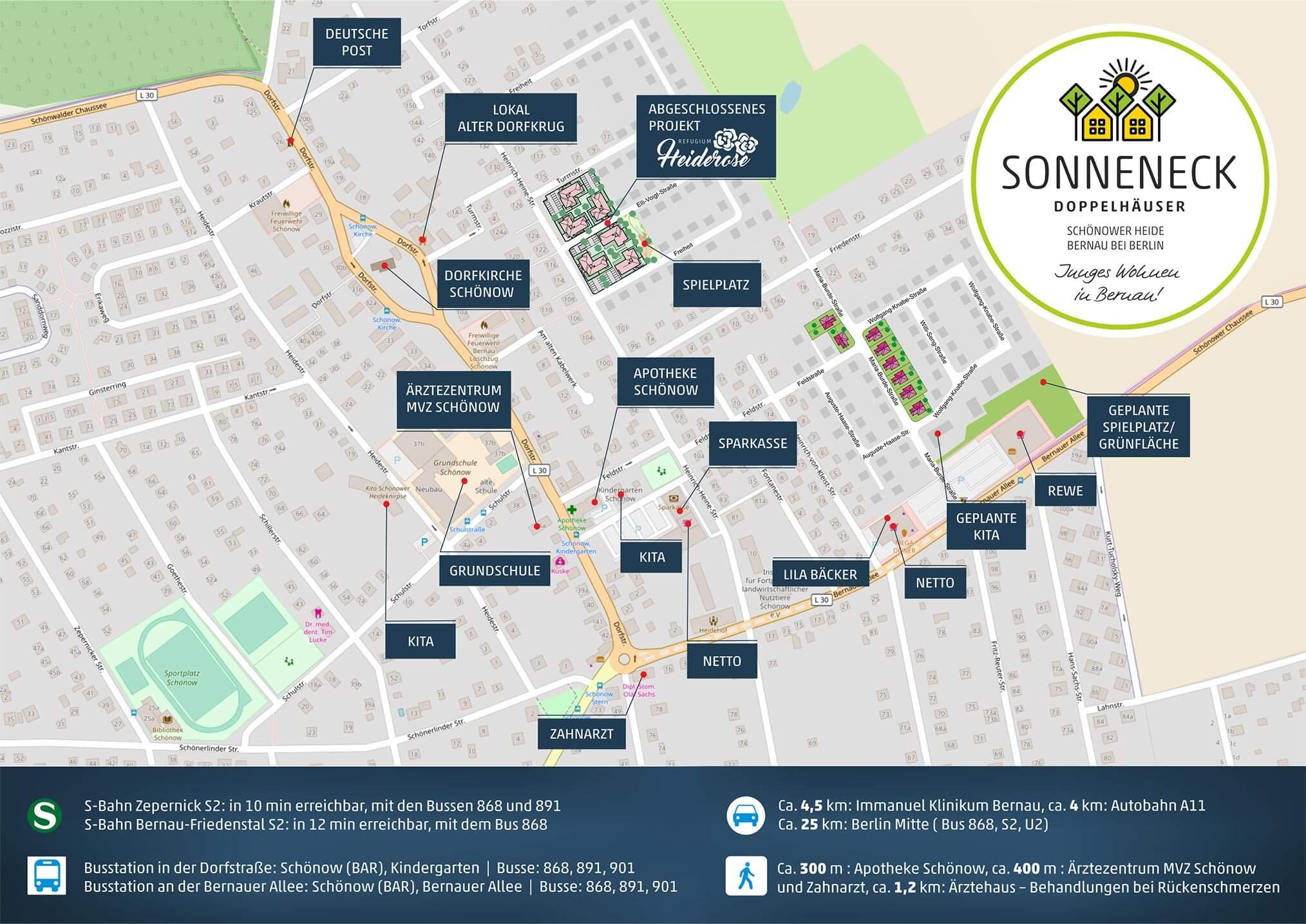Stadtplan Schönow